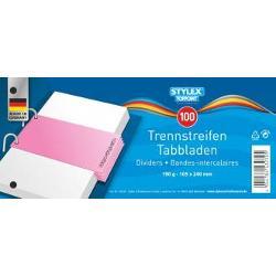 Separatoare din carton  190grmp format 105x24 cm cu 2 perforatii 100 bucatiset Culoare bleu Produs de Toppoint-Germania