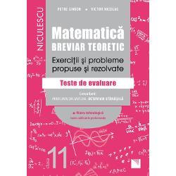 Matematica clasa a XI a Breviar teoretic Exercitii si probleme propuse si rezolvate Filiera tehnologica
