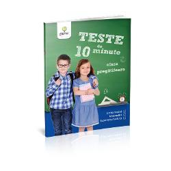 Caietul Teste de 10 minute Clasa preg&259;titoare vine în sprijinul copiilor care se preg&259;tesc pentru ciclul primar &537;i îi ajut&259; s&259; î&537;i consolideze cuno&537;tin&539;ele dobândite atât la orele de limb&259; &537;i comunicare cât &537;i la cele de matematic&259; &537;i &537;tiin&539;e ale naturii Caietul include semne grafice de trasat cuvinte de desp&259;r&539;it în silabe adun&259;ri
