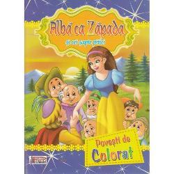 Povesti de colorat-Alba ca Zapada