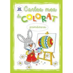 Carte de colorat - primavara