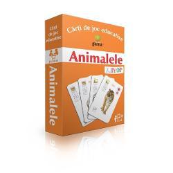 """Pachetul con&539;ine·48 de carduricu animale; ·un cardcu legenda pictogramelor folosite; ·un cardcu un """"Vân&259;tor"""" folosit la gradul 2 de dificultateScopul jocului este înv&259;&539;area animalelor &537;i principalelor caracteristici ale acestora unde tr&259;iesc cu ce se hr&259;nesc etc"""