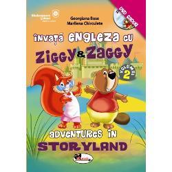Dragi copii Ziggy si Zaggy s-au intors cu noi aventuri Descoperiti ghidusiile simpaticelor personaje din Storyland citind povestile si vizionand DVD-ulInvitati-va parintii sa se joace alaturi de voi rezolvand exercitiile amuzante de la finalul fiecarei lectii Intrand in joc va veti face noi prieteni si veti indragi limba englezaToate conversatiile din carte sunt atat in limba engleza