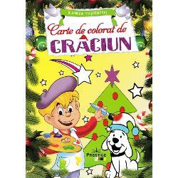 Aceasta carte de colorat de Craciun contine ilustratii specifice sezonuluiUrmareste-l pe Mos Craciun in marea sa aventura si ajuta-l sa imparta cat mai multe cadouriColoreaza bradul de Craciun si cat mai multe cadouri dar si jucarii animalute ingerasi ornamente oameni de zapada si bineinteles pe Mos Craciun