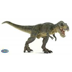 Figurina Papo-Dinozaur&160;Tyrannosaurus RexJucarie educationala realizata manual excelent pictata si poate fi colectionata de catre copii sau adaugata la seturile de joaca cum ar fi animale preistoriceetcNu contine substante toxiceDimensiuni Lx l x h&160;&160;311x96x125&160;cm; greutate344gVarsta 3 ani Asemeni tuturor figurinelor Papo Tyrannosaurus face parte din colectia de figurine preistorice este pictat manual vopselurile folosite respecta standardele europene de