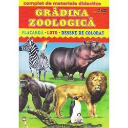 Gr&259;dina Zoologic&259;const&259; din placard&259; loto &351;i desene de colorat Cartea se adreseaz&259; copiilor de vârst&259; pre&537;colar&259; de la 2 la 4 ani