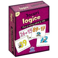 Plus &351;i minus pân&259; la 100 Un joc superdistractiv  Plus sau minus C&259;rui exerci&355;iu îi corespunde rezultatul Calcule cu numere pân&259; la 100 Cre&351;te concentrarea &351;i capacitatea de memorare  Con&355;ine 48 de jetoane