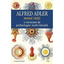 Dupa despartirea de Freud Alfred Adler contesta rolul dominant al energiilor sexuale in viata psihica sustinand ca fortele responsabile de evolutia psihica a individului sunt fortele sociale Spre deosebire de psihanalisti Adler nu concepe personalitatea ca fiind alcatuita pe paliere diferite de organizare Individul trebuie privit ca o fiinta unica indivizibila si nu poate fi inteles in afara relatiei cu semenii Comportamentul ii este dictat nu de trecut ci este orientat spre viitor si