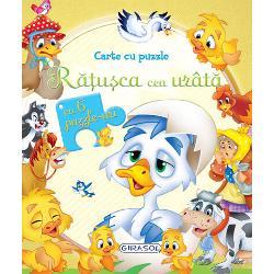 O poveste magica potrivita pentru micutii curiosiDescopera povestea Ratusca cea urata intr-o carte cu 6 pagini frumos ilustrate si 6 puzzle-uri a cate 6 piese fiecare