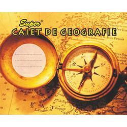 Caiet geografie 32 file capsat coperti policromie hartie interior 60 gmp