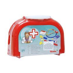 Geanta de doctor este echipat&259; cu diverse accesorii &351;i îl va ajuta pe copil s&259; interpreteze noi roluri &351;i personajeGeanta include stetoscop foarfec&259; termometru cioc&259;nele pansament diverse accesoriiDimensiuni 20x14x6cm