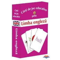 Carti de joc educative - Limba engleza contine 24 de perechi imagine-cuvant Cuvinte simple imagini atractive carduri cu dictionar pentru invatare sau verificare 3 grade de dificultate a jocurilor