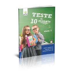 CaietulTeste de 10 minute Clasa Iofer&259; posibilitatea de a verifica nivelul cuno&537;tin&539;elor dobândite de copil atât la orele delimb&259; &537;i comunicare cât &537;i la cele dematematic&259;&537;i&537;tiin&539;e ale naturii Fiecare test este înso&539;it de un barem de punctaj iar r&259;spunsurile pot fi confruntate cu solu&539;iile din sec&539;iunea