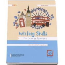 Writing Skills for young learners se adreseaza elevilor de clasele a VII-a si a VIII-a fiind un instrument de lucru cuprinzator si usor de consultat pentru exersarea competentelor de compozitie si de scriere in limba englezaConceputa ca un caiet de lucru lucrarea abordeaza cele mai importante tipuri de text de nivel intermediar  e-mailuri informale scrisori formale compuneri cu suport grafic