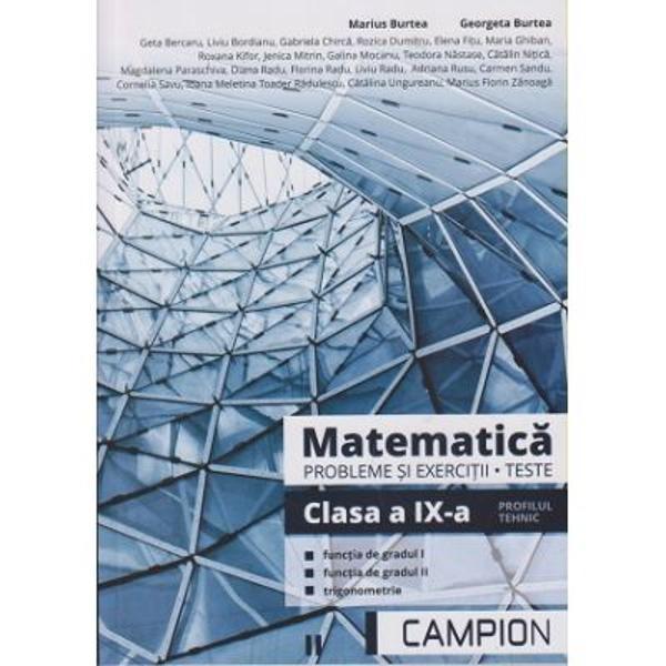 Matematica Probleme si exercitii Teste clasa a IX- a Profil tehnic