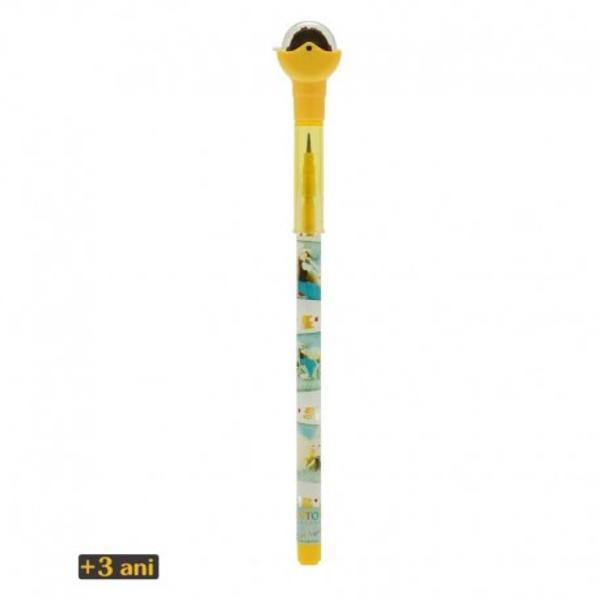 Kori Kumi Creion cu stampilaSummertimeeste un creion cu rezerva cu 10 mine de grafit infatisand designul Kori KumiSummertimein format de poze Creionul cuprinde de asemenea un capac cu stampila portocaliecu biciclete protejata printr-un capac rotativ transparentDimensiune aprox 176 x 22 x 17cm
