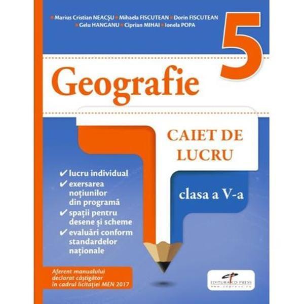 Caiet de geografie clasa a V a