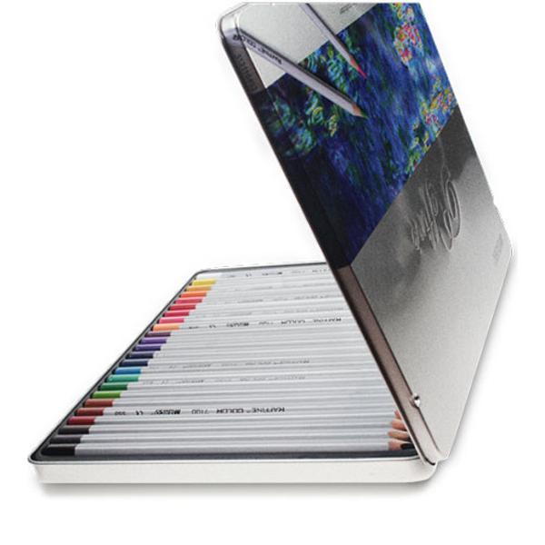 Creioane colorate in caseta de metalSet 24 culoriDiametru grif 32mm Nu sunt recomandate copiilorcu virsta sub 3 ani