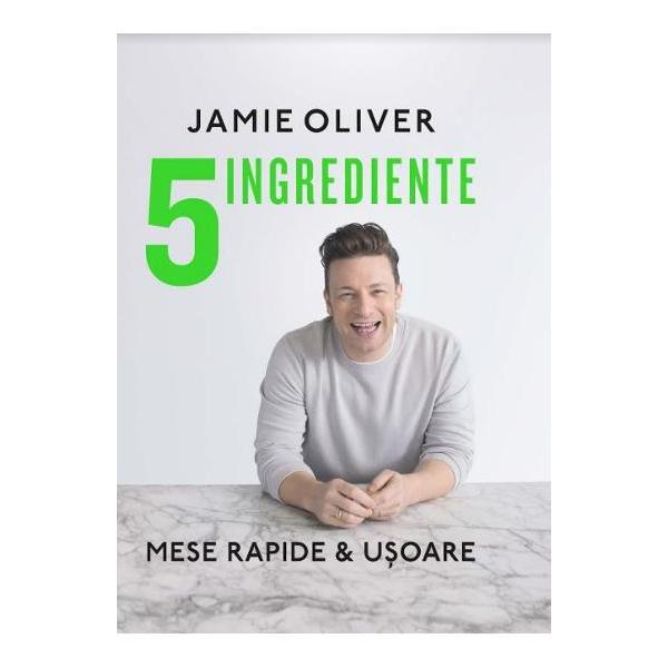 Jamie Oliver autorul celor mai bine v&226;ndute c&259;r&539;i culinare din toate timpurile &238;n Marea Britanie revine cu o lucrare senza&539;ional&259; Concentr&226;ndu-se pe combina&539;ii incredibile de 5 ingrediente a creat 130 de re&539;ete pe baza c&259;rora pute&539;i prepara bun&259;t&259;&539;i pentru mesele zilnice Autorul v&259; d&259; idei pentru toate tipurile de m&226;nc&259;ruri de la salate paste pui &537;i pe&537;te la feluri inedite cu legume orez