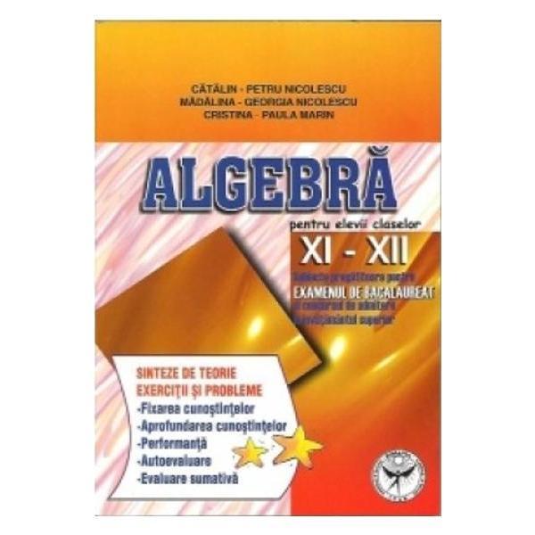 Algebra XI XII - subiecte pregatitoare pentru examenul de bacalaureat