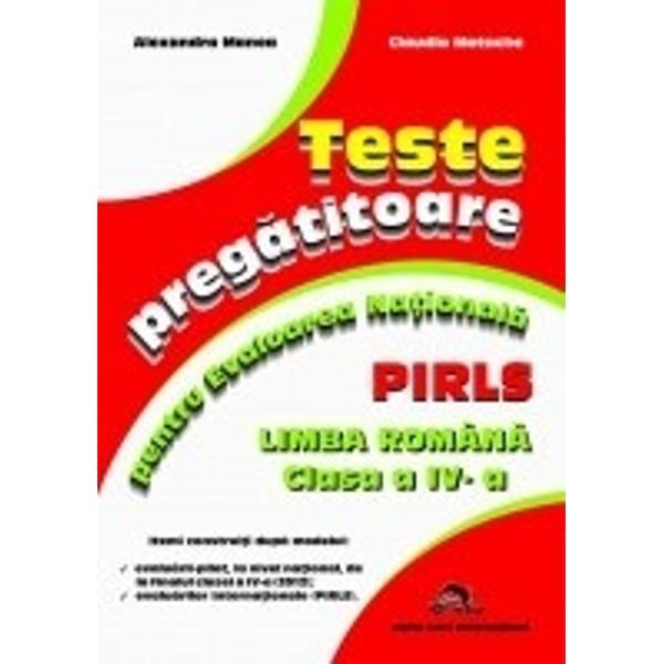 Teste pregatitoare pentru evaluarea nationala Limba romana clasa a IV a