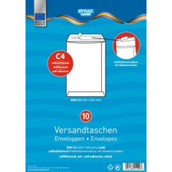 Set 10 plicuri albe siliconice C4Hartie alba 120 grmp Format 229x334 mm Ambalaj punga din plastic Produs de Toppoint-Germania