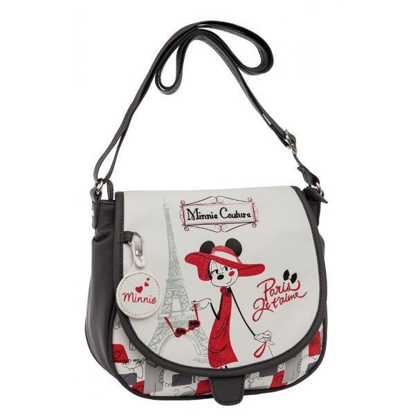 Geanta de umar Disney Minnie Couture cu 1 compartiment imprimeu cu personajul Minnie Couture confectionata din piele ecologica dimensiune 23x205x85 cmGeanta umar cu licenta Disney Minnie colectia Minnie Couture este recomandata pentru copiiCaracteristiciTipGeanta