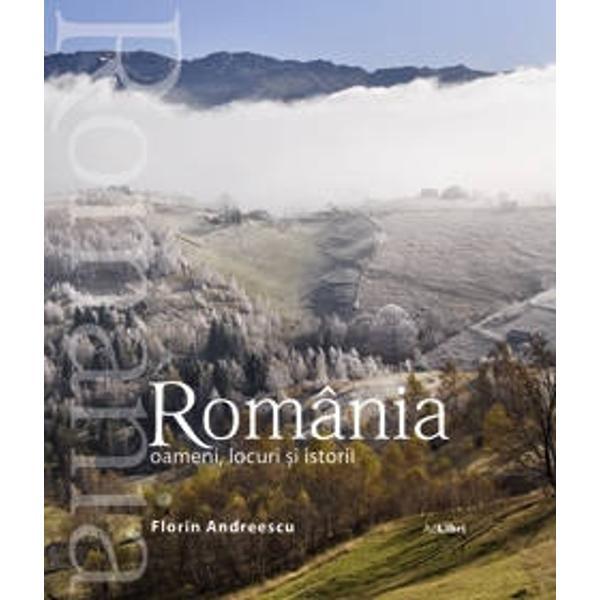Un album de lux in format spectaculos cu fotografii inedite care pun in valoare chipuri de oameni dar si locuri si istorii romanesti Ideal pentru a fi facut cadou cuiva care vrea sa plece din Romania cu o amintire de neuitatText romana engleza