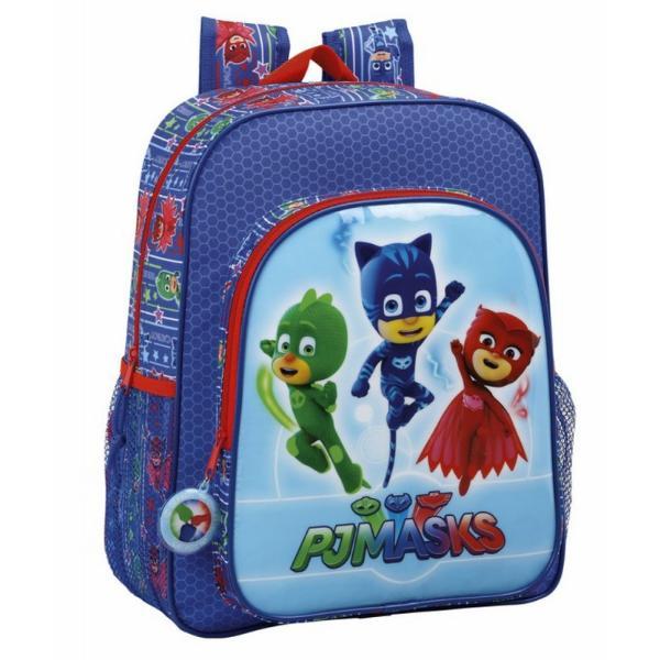 Ghiozdan jr PJ MASKS 32 cmGhiozdan jr PJ MASKS 32 cm este special realizat pentru scolari Ghiozdanul este infrumusetat de personajele PJ Masks in tonuri vesele de albastru verde si rosuDimensiuni 32x12x38 cm