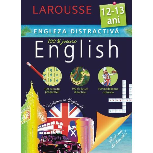 Cartea este conceputa de specialistii Larousse pentru copiii de 12-13 ani care studiaza limba englezaContine exercitii progresive jocuri didactice medalioane culturale· Recapitularea unor notiuni gramaticale esentiale· Exercitii adaptate in vederea aplicarii cunostintelor · Jocuri