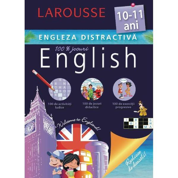 Cartea este conceputa de specialistii Larousse pentru copiii de 10-11 ani care studiaza limba englezaConþine activitaþi ludice jocuri didactice exerciþii progresive- Activitaþi adaptate si jocuri care te vor ajuta sa te antrenezi si sa progresezi- Toate cuvintele pe care ar trebui sa le cunosti- ªiretlicuri ca sa