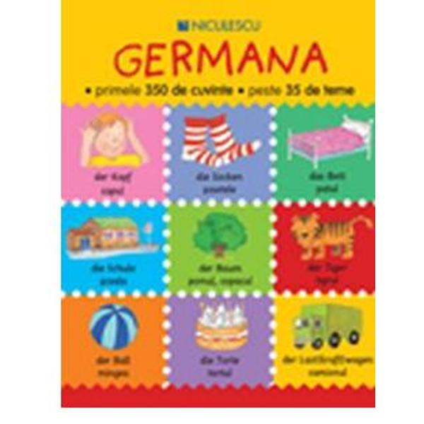 Aceast&259; carte se adreseaz&259; copiilor cu vârsta de 4-8 ani care încep s&259; înve&355;e limba german&259;Cuprinde peste 350 de cuvinte uzuale din german&259; organizate pe 35