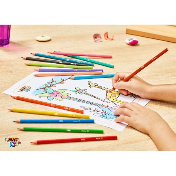 Creioane Colorate- 24 culoriGama Tropicolors BIC