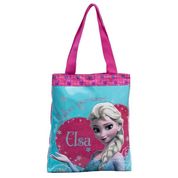 Geanta de shopping Disney Frozen Elsa cu 1 compartiment confectionat din microfibra imprimeu cu personajul Elsa dimensiune 32x38x5 cmGeanta shopping cu licenta Disney Frozen colectia Frozen Elsa este recomandata pentru copiiCaracteristiciTipGeanta