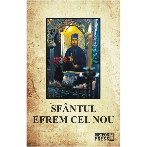Sfantul Efrem cel Nou marele mucenic &537;i facator de minuni cinstit de o mul&539;ime de credincio&537;i din intreaga lume a fost ales de Dumnezeu pentru savar&537;irea minunilor in vremurile noastre tulburi pentru intarirea credin&539;ei &537;i mangaierea cre&537;tinilor dupa cum el insu&537;i a marturisit unei maici din Manastirea Bunei-Vestiri de la Nea Makri Attica Grecia unde se afla cinstitele sale moa&537;te Din 3 ianuarie 1950 – cand Dumnezeu a randuit