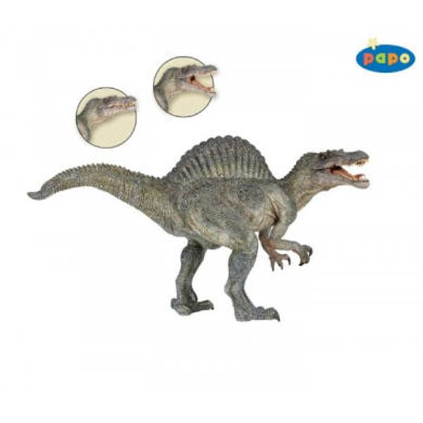 Dimensiuni Lx l x h&160; 33 x 5 x 17cmAsemeni tuturor jucariilor Papo Spinosaurus face parte din colectia de figurine preistorice&160;are mandibula mobila este pictat manual vopselurile folosite respecta standardele europene de siguranta ceea ce conduce la o calitate inalta a produsului si reda incredibil pana la cele mai mici detalii modelul real asigurandu-le un loc aparte intre jucariile de acest genIntreaga colectie de dinozauri reuseste sa readuca la viata timpurile