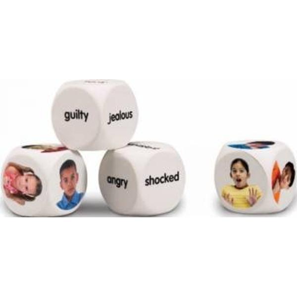 Cuburi pentru conversatii il stimuleaza pe copilul tau sa-si exprime emotiile si sentimentele Va fi incurajat sa faca acest lucru prin intermediul fiecarei imagini extrem de realiste Cuburile reprezinta un instrument grozav pentru exersarea vocabularului copilului tauCaracteristici- 4 cuburi;- 2 cuburi cu fete ce exprima diferite emotii 12 fete in total;- 2 cuburi cu diferite cuvinte ce exprima emotii;-