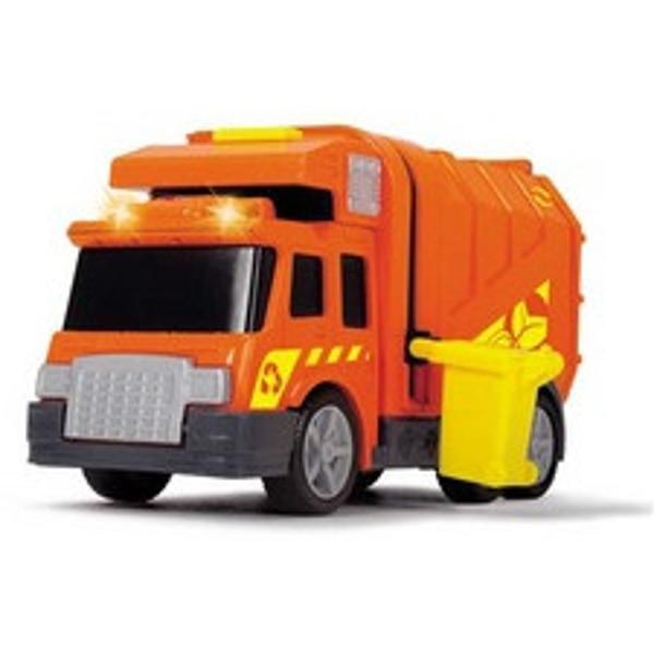 Masina de gunoi -City cleaner 155 cm 3302000 DickieFabricata integral din plastic de culoare portocalie un cadou ideal pentru orice baietelCaracteristici- buton pentru lumini si sunete specifice- usa din spatele containerului principal