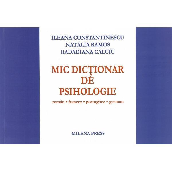 Mic dictionar de psihologie Roman francez portughez german