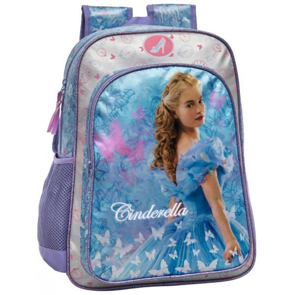 Ghiozdan scoala Disney Cenusareasa cu 1 compartiment principal 1 buzunar exterior dimensiune 40 cm material microfibra si piele ecologica bretele ajustabile imprimeu cu personajul CenusareasaGhiozdan scoala cu licenta Disney Cinderella este recomandat pentru copiiCaracteristiciTiptd