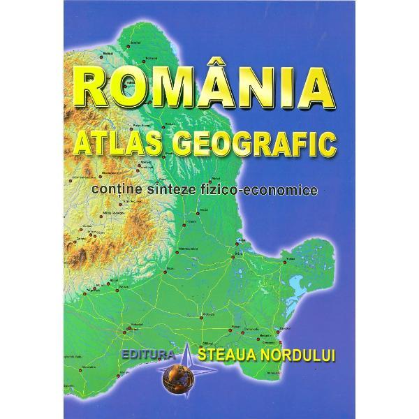 Atlasul Romaniei este destinat tuturor celor ce doresc sa-si insuseasca cuno&351;tin&355;e de geografie generalaLucrarea de fata se vrea a fi o publicatie care sa insumeze nu atat caracterele componentelor structurii geografice cat mai ales sa contureze personalitatea României sub raportul geografiei fizice si economice precum si integrarea ei organica in ansamblul societatii europene si