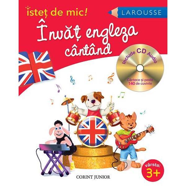Cântece amuzante &537;i u&537;or de re&539;inut pentru a înv&259;&539;a engleza înc&259; de la o vârst&259; fraged&259;CD-ul con&539;ine cântece inedite &537;i melodii moderne pe care copilul dumneavoastr&259; le va asculta f&259;r&259; întrerupere &351;i care pot fi u&351;or memorate Fiecare cântecel