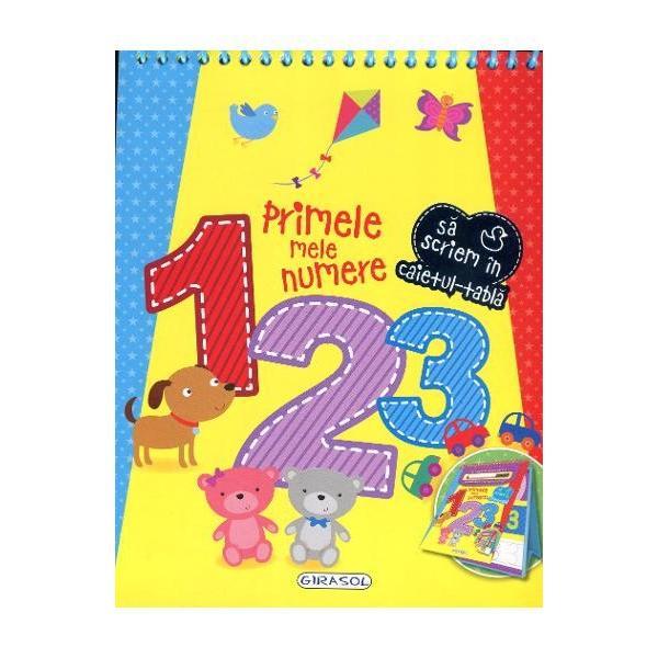 Caiet tabla - Primele mele numereUn caiet deosebit pentru cei mai mici eleviCopiii vor invata numerele si se vor distra folosind pixul special scriind si stergand de cate ori doresc