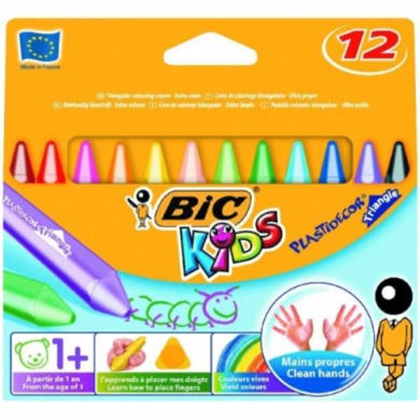 Creioane cerate plastifiate plastidecor triunghiulare