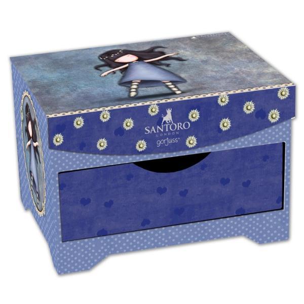 Caseta bijuterii Gorjuss Tiptoes 18 cmCutie de bijuterii originala si practica in tonuri violet albastru si griDimensiuni aproximative 18x122x14