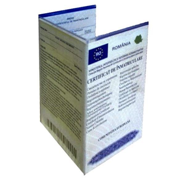 Coperta transparenta dinmateria pvcpentru intretinerea si protejarea certificatui de inmatriculare  Previne ruperea indoirea sau murdarirea talonului auto