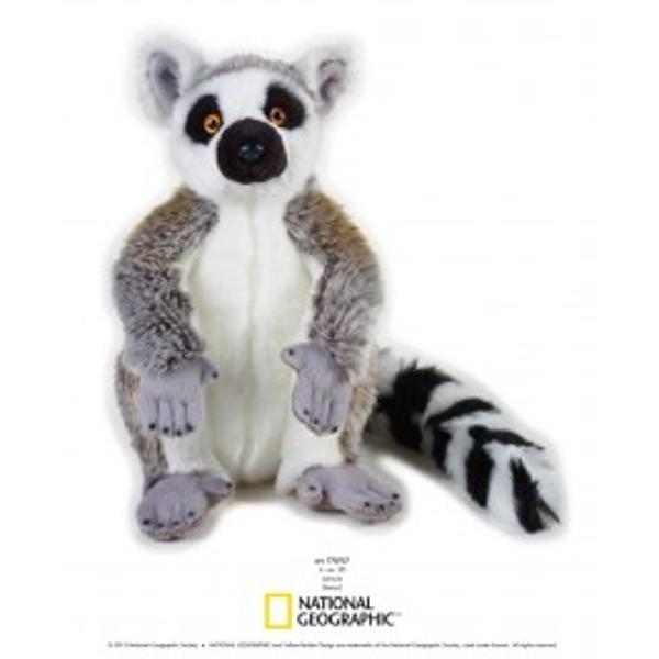 Jucarie din plus National Geographic Lemur 30 cmCompleteaza colectia ta de animale salbatice cu acestlemurdin plus cu blanita moale si pufoasa Copii pot afla mai multe lucruri interesante despre cel maiiubit si simpatic mamifer terestruLemurul este un mamifer primat solitarcare traieste in