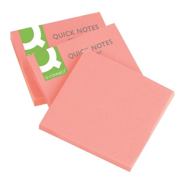 Notes autoadeziv 76x76 mm 75 file roz neon75 file cu banda autoadeziva in partea superioaraIdeal pentru a scrie mesaje-atat acasa cat si la birou