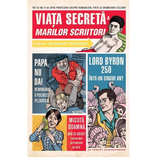 Pornind de la William Shakespeare &351;i ajungând pân&259; la Thomas PynchonVia&355;a secret&259; a marilor scriitorine prezint&259; o serie de portrete scandaloase &351;i necenzurate ale scriitorilor celebri încercând s&259; abordeze toate întreb&259;rile dificile pe care profesorii de