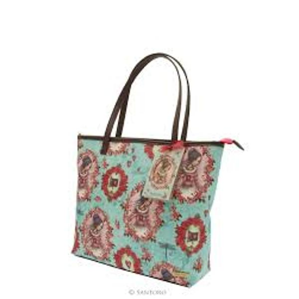 Mirabelle Large Shopper Bag - The Secret Sophistication and elegance all in one bag This large shopper bag is perfect for days out school work and even trips away In shades of pastel aquamarine and with rose pink hues the bag is beautifully detailed with